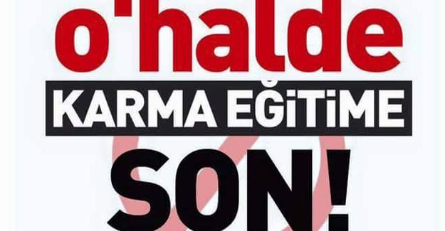 """İstanbul Üniversitesi'nde, """"O'halde karma eğitime son!"""" kampanyası"""