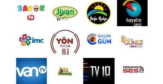 Kapatılan radyo ve TV'ler hangi dilde ve nerede yayın yapıyordu?