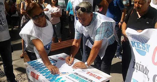 KESK'ten ihraç ve açığa almalara karşı imza kampanyası