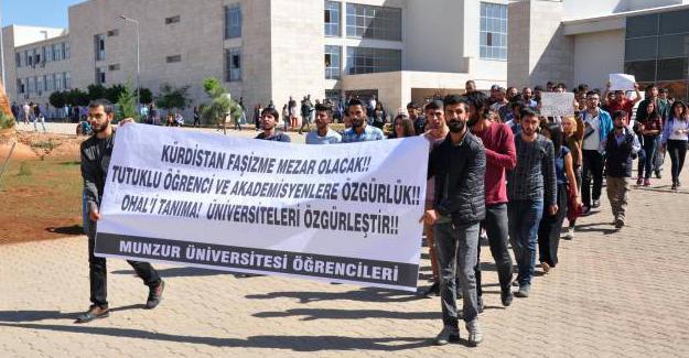 Munzur Üniversitesi öğrencileri hocalarına sahip çıktı