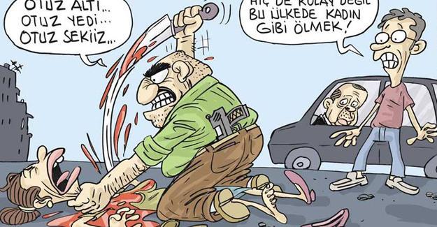 Sefer Selvi, Erdoğan'ın 'madam gibi ölmek var' açıklamasını çizdi