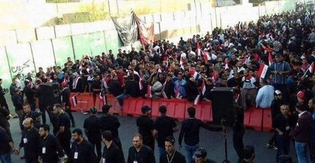 Türkiye'nin Bağdat Büyükelçiliği önünde protesto
