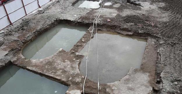 AVM inşaatında arkeolojik kazı