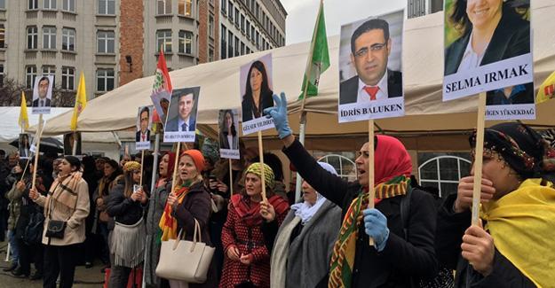 Avrupa Komisyonu önünde HDP'ye destek eylemi
