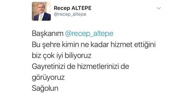 Bursa Büyükşehir Belediye Başkanı sahte hesaptan tweet atıp kendini övdü