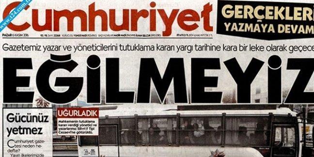 Cumhuriyet'ten tutuklamalara tepki: Gücünüz yetmez, hodri meydan