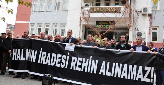 Dersim Belediye Eşbaşkanlarının gözaltına alınması protesto edildi