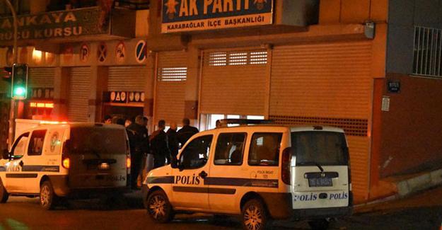 İzmir'de AKP ilçe binasına silahlı saldırı!