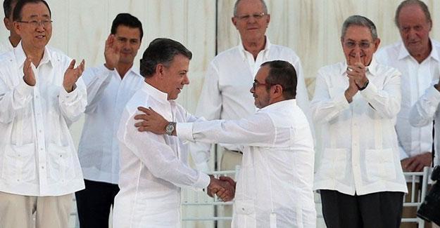 Kolombiya hükümeti ile FARC arasında yeni barış anlaşması imzalandı