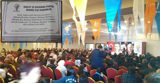 Öğretmenlere 'AKP etkinliğine katılma' zorunluluğu