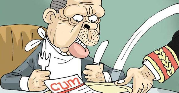 Sefer Selvi Erdoğan'ın menüsü çizdi