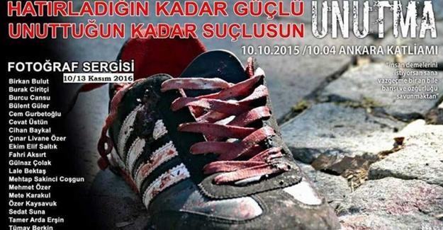 Sirkeci Garı'nda Ankara Katliamı sergisi: 'Unuttuğun kadar suçlusun'