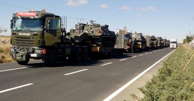 Şırnak Silopi'deki sınıra askeri sevkiyat