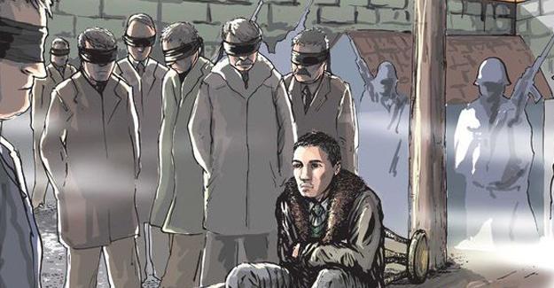 Leman, 17 yaşında idam edilen Erdal Eren'i çizdi