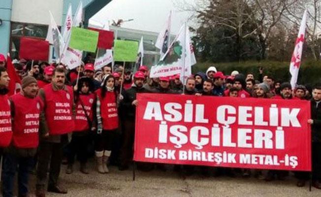 Asil Çelik'te bugün başlayacağı ilan edilen greve 'milli güvenlik' yasağı