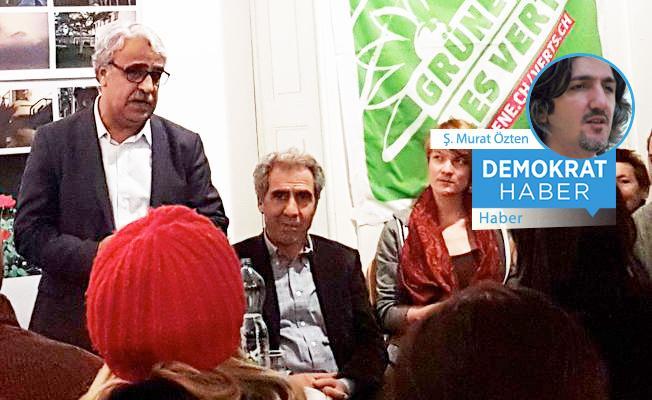 Mithat Sancar İsviçre'de konuştu: Erdoğan bir şantajcı!