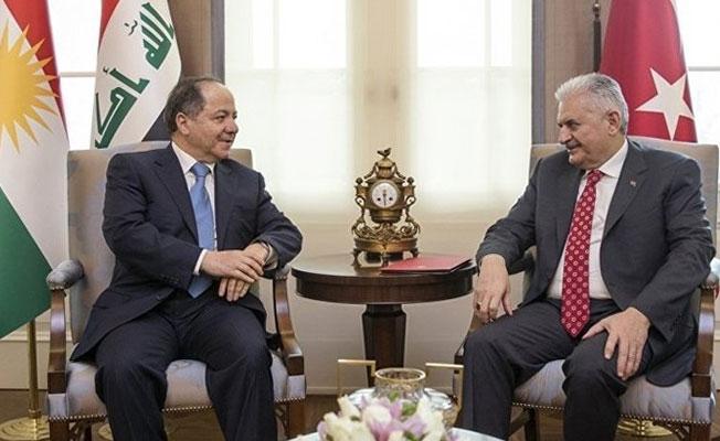 Barzani ile Başbakan Yıldırım bir araya geldi