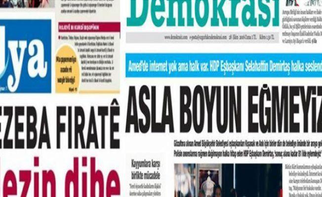 Gazete dağıtım bürosuna polis baskını