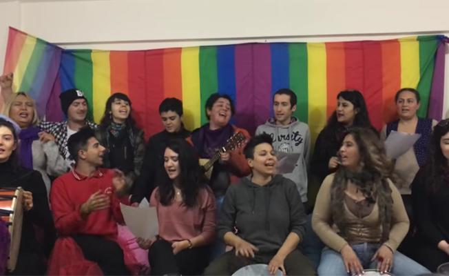 Kadınlar ve LGBTİ'lerden 'Hayır' şarkısı