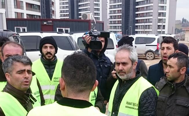 Kocaeli'de inşaat işçileri direnişe geçti