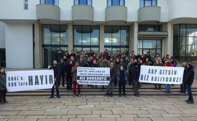 ODTÜ'de Başbakan protestosu: AKP gitsin biz kalıyoruz