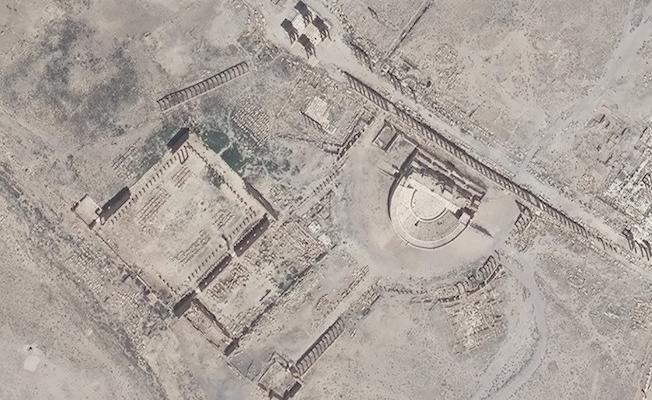 Palmira tiyatrosunun yıkıldığı drone görüntüleriyle kesinleşti