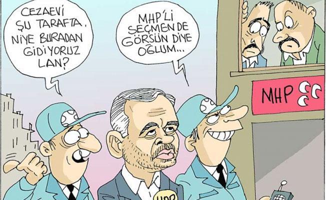 Sefer Selvi, HDP'li vekillerin gözaltına alınmasını çizdi: MHP'li seçmende görsün