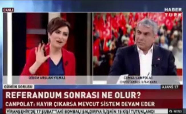 CHP'li Başkan Habertürk yayınında: Siz yandaş medyadan da yandaşsınız