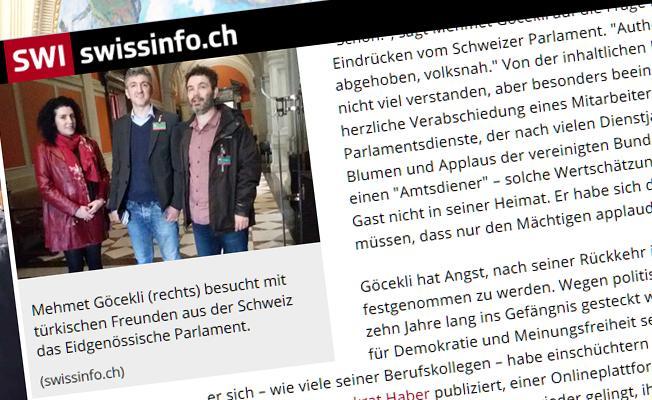 Demokrat Haber İsviçre Parlamentosu'ndaydı