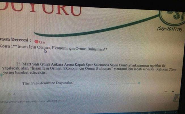 Devlet Su İşleri'nden Erdoğan'ın etkinliğine çağrı!