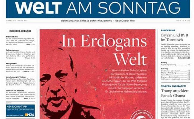 Die Welt'ten 'Erdoğan'ın Dünyası' manşeti: Deniz Yücel sadece gazetecidir