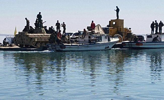 DSG Fırat Nehri'ni teknelerle geçti