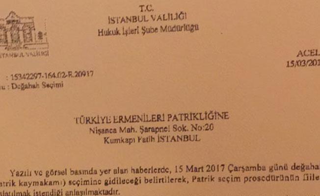 İstanbul Valiliği'nden patrik seçimine müdahale