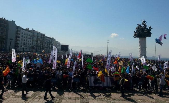 İzmir Newroz'u: Barış, eşitlik ve kardeşlik için hayır