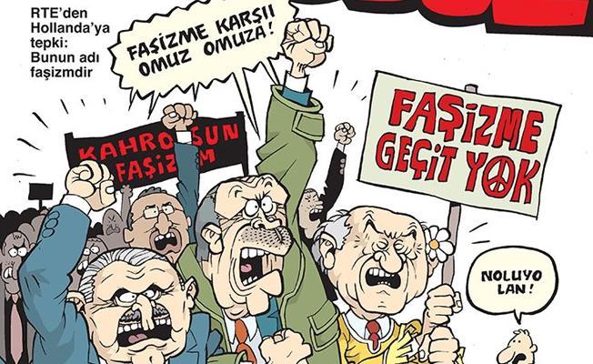 Uykusuz, Erdoğan'ın Hollanda'ya tepkisini kapağına taşıdı
