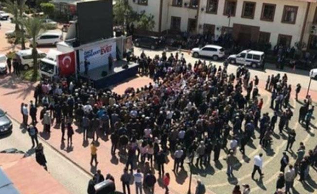 Çavuşoğlu'nun Antalya mitingi sosyal medyada