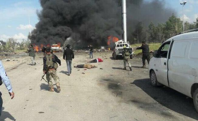 Halep'te sivilleri taşıyan otobüslere saldırı