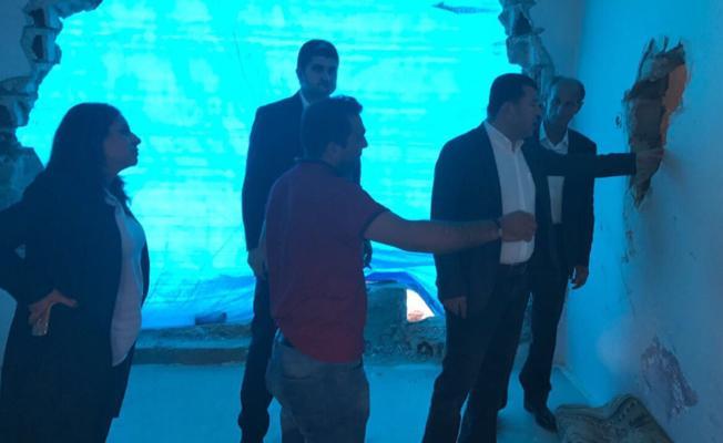 CHP heyeti Silopi'de panzerin ezdiği 2 çocuğun ailesini ziyaret etti