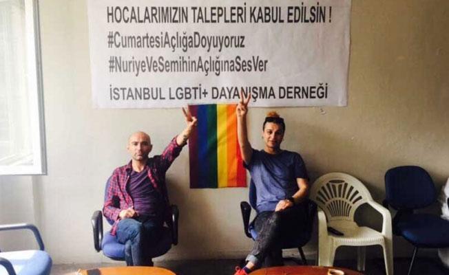 LGBTİ+ aktivistleri, Gülmen ve Özakça için açlık grevine başladı