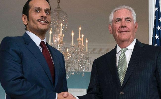 ABD'ye giden Katar Dışişleri Bakanı'ndan açıklama