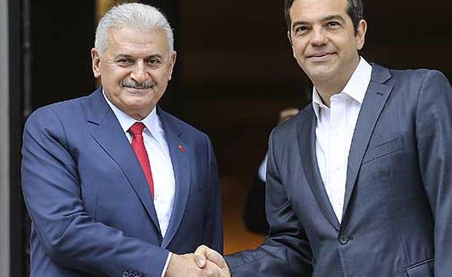 Başbakan Yıldırım ile Yunanistan Başbakanı Tsipras'tan ortak açıklama