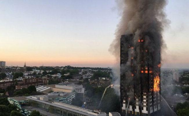 Londra'da 27 katlı binada yangın: Hayatını kaybedenler var