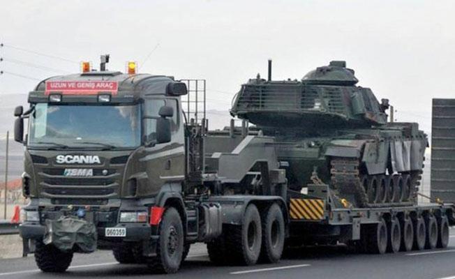 Şırnak'ta sınır karakollarına tank sevkiyatı