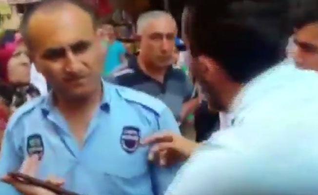 Zabıtanın sokak müzisyenlerine müdahalesini vatandaşlar engelledi