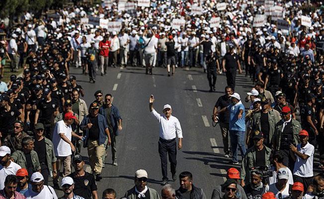 'Adalet Yürüyüşü'nde son gün: Kılıçdaroğlu son etabı tek yürüyecek