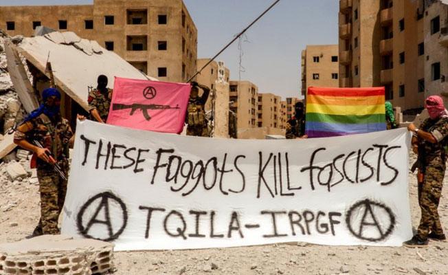 IŞİD'e karşı 'Eşcinsel Diriliş ve Kurtuluş Ordusu' kuruldu: 'Bu ibneler faşist öldürür'