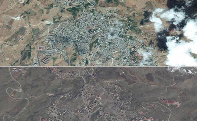 Şırnak'ın uydu görüntüleri: Kentin yüzde 70'ine yakını yıkılmış