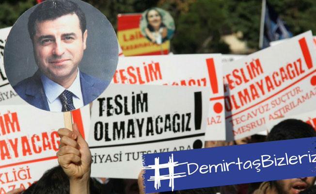Twitter'da Erdoğan'a tepki: Demirtaş bizleriz