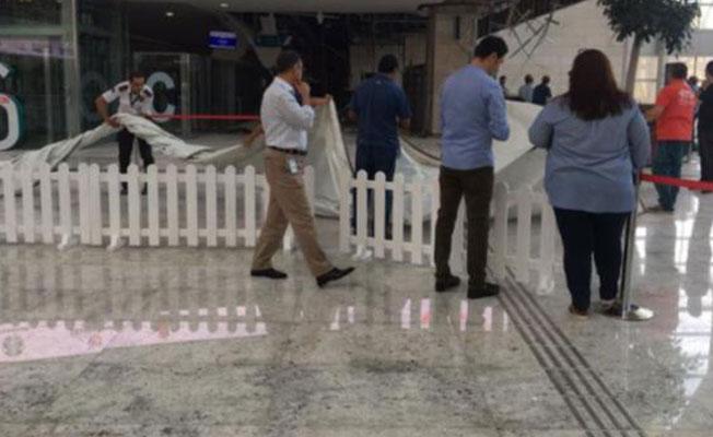 Ankara'da Yüksek Hızlı Tren Garı'nın tavanı çöktü