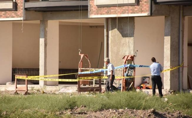 Beşinci kattan düşen inşaat işçisi hayatını kaybetti
